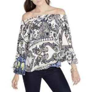 NWT Rachel Rachel Roy Printed Off the Shoulder Top